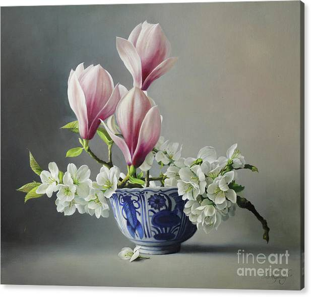 Magnolia And Blossem by Pieter Wagemans