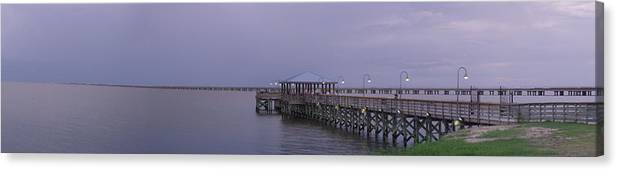 Pier Canvas Print featuring the photograph Sunset Point Pier by Anthony Walker Sr