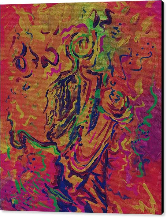 Jazz Painting Canvas Print featuring the painting Orleans Heart Of Jazz by Stephanie Cox