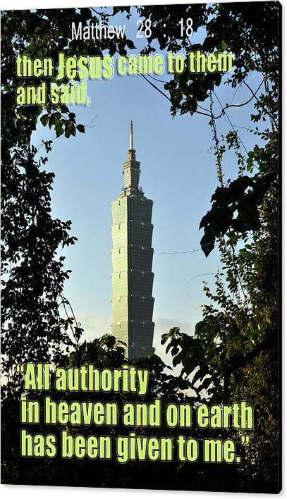 Canvas Print featuring the photograph All Authority by Ali Kerry