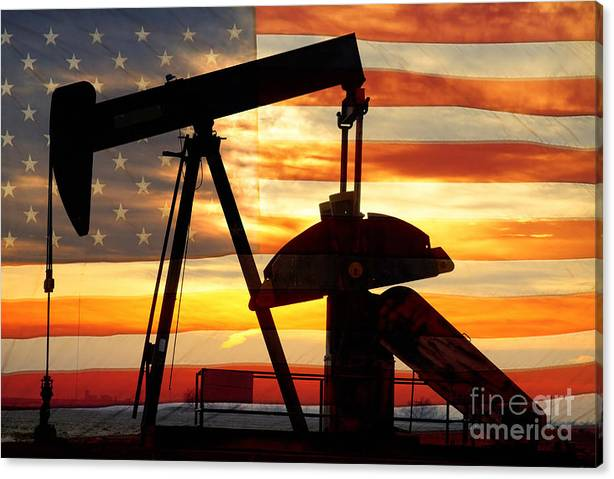 Limited Time Promotion: American Oil  Stretched Canvas Print