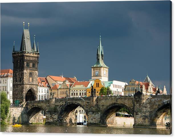 Limited Time Promotion: Charles Bridge Prague Stretched Canvas Print