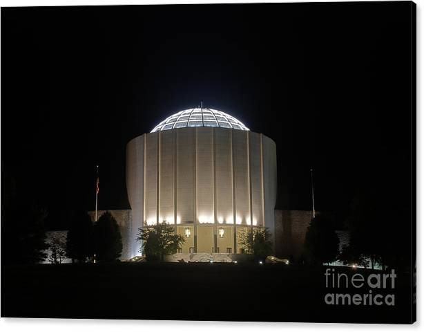 Limited Time Promotion: Founders Hall At Night Stretched Canvas Print
