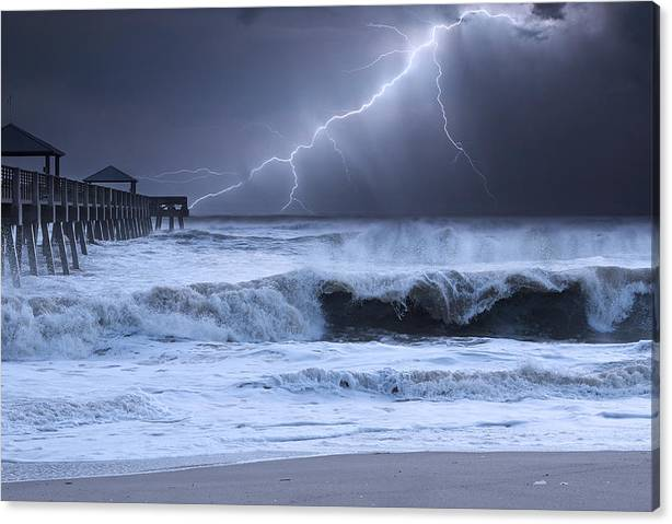 Limited Time Promotion: Lightning Strike Stretched Canvas Print