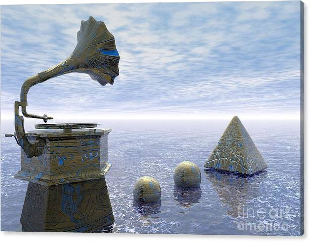 Limited Time Promotion: Listen - Surrealism Stretched Canvas Print