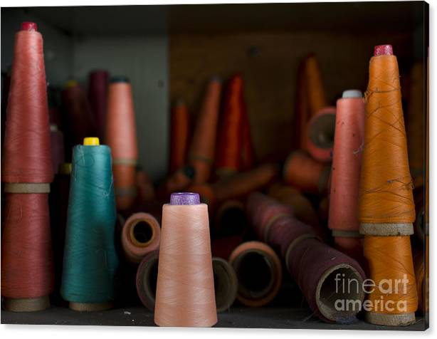 Limited Time Promotion: Spools Stretched Canvas Print