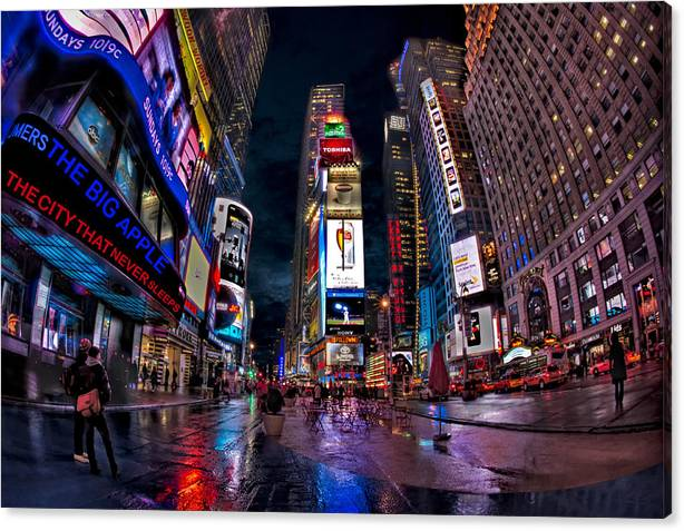Limited Time Promotion: Times Square New York City The City That Never Sleeps Stretched Canvas Print