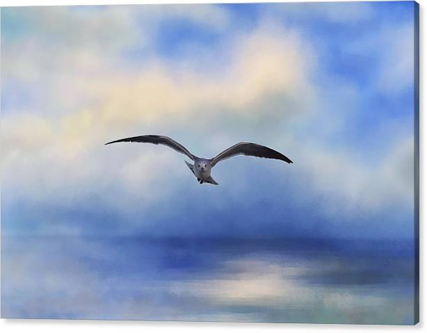 Limited Time Promotion: Above The Sea Stretched Canvas Print