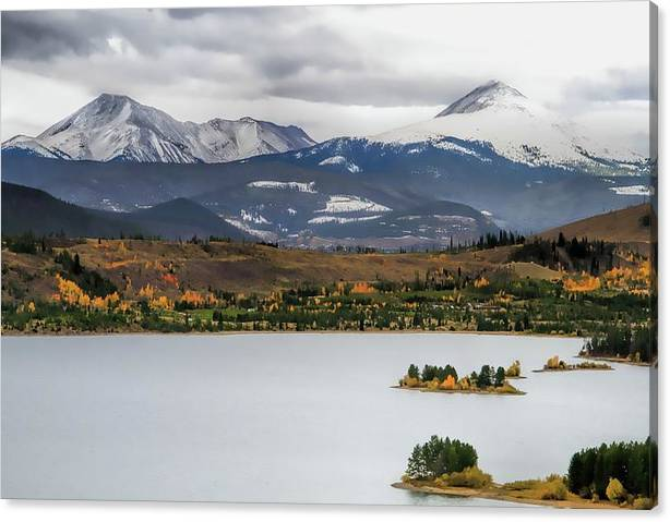 Limited Time Promotion: Autumn On Lake Dillon Colorado Stretched Canvas Print