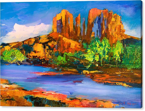Limited Time Promotion: Cathedral Rock Afternoon Stretched Canvas Print