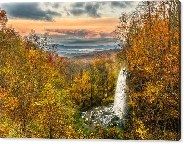 Limited Time Promotion: Falling Spring Falls Stretched Canvas Print