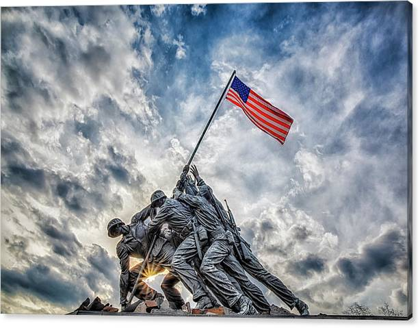 Limited Time Promotion: Iwo Jima Memorial Stretched Canvas Print