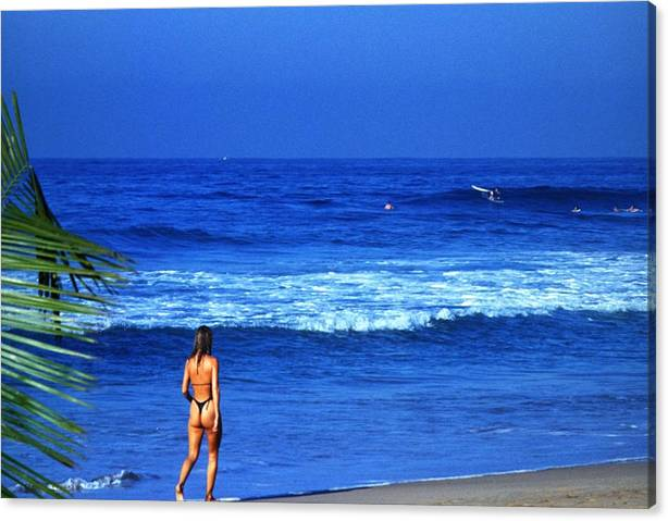 Limited Time Promotion: On The Beach Stretched Canvas Print