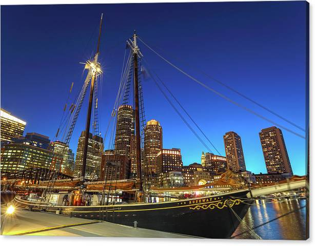 Limited Time Promotion: Sail Boston Tall Ships Stretched Canvas Print