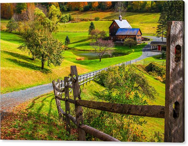 Limited Time Promotion: Sleepy Hollow Farm Stretched Canvas Print