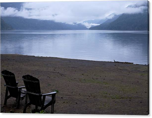 Limited Time Promotion: Wish You Were Here - Peaceful Lake Stretched Canvas Print