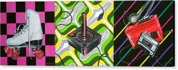 1980's Canvas Print featuring the painting The 80s by Anthony Mezza