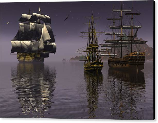 Bryce Canvas Print featuring the digital art Prepare To Drop Anchor by Claude McCoy