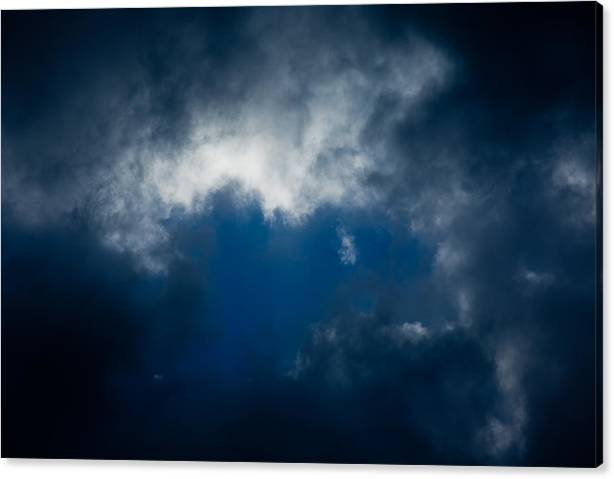 Clouds Canvas Print featuring the photograph Clouds - Nubes by Felix Mazo