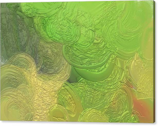 Water Canvas Print featuring the painting Out On The Green Seas by Naomi Jacobs