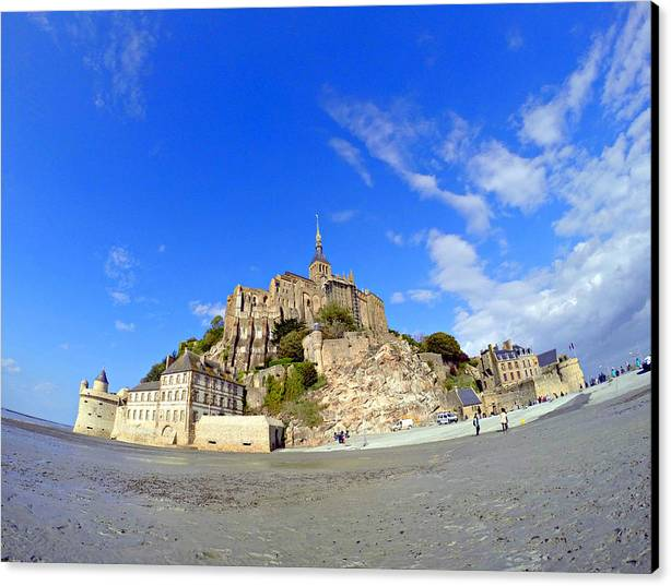 Canvas Print featuring the photograph Mont Saint-michel by Vicente Russo