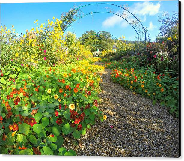 Canvas Print featuring the photograph Giverny - Monet by Vicente Russo