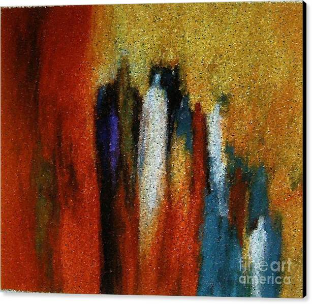 Abstract Canvas Print featuring the painting Spirits Gathered by Don Phillips