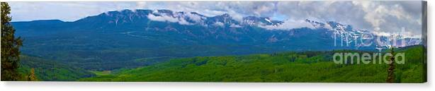 Altitude Canvas Print featuring the photograph Elk Mountains Panorama by Crystal Garner