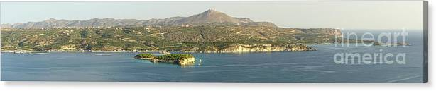 Greece Canvas Print featuring the photograph Crete Panoramic by HD Connelly