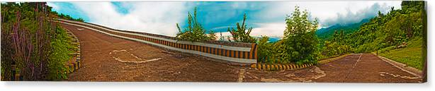 Tagaytay Canvas Print featuring the photograph 6x1 Philippines Number 432 Tagaytay Panorama by Rolf Bertram