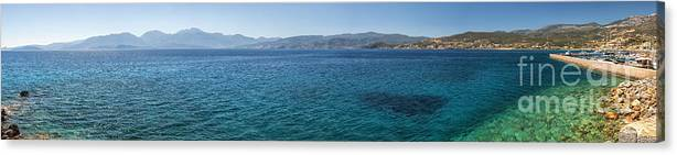 Greece Canvas Print featuring the photograph Mirabello Bay Panorama by Antony McAulay