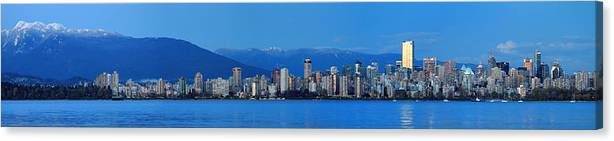Vancouver Canvas Print featuring the photograph Vancouver Panorama  This Can Be Printed Very Large by Pierre Leclerc Photography