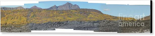 Landscape Canvas Print featuring the photograph On The Matanuska Glacier by Ron Bissett