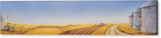 Great Plains Art Canvas Print featuring the painting Grazing by Scott Kirby