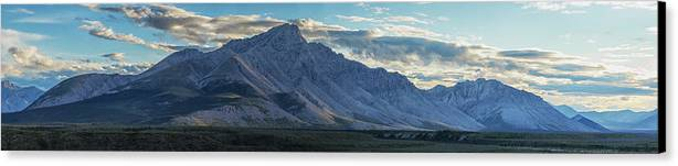 Cloud Canvas Print featuring the photograph Panoramic Image Of Royal Mountain by Robert Postma