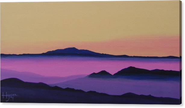 Mountains Canvas Print featuring the painting Early Morning by Hunter Jay