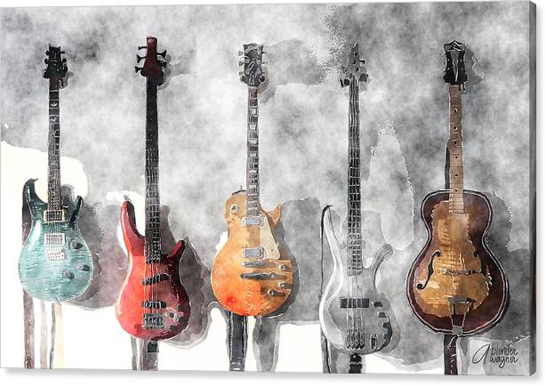 Guitars On The Wall by Arline Wagner