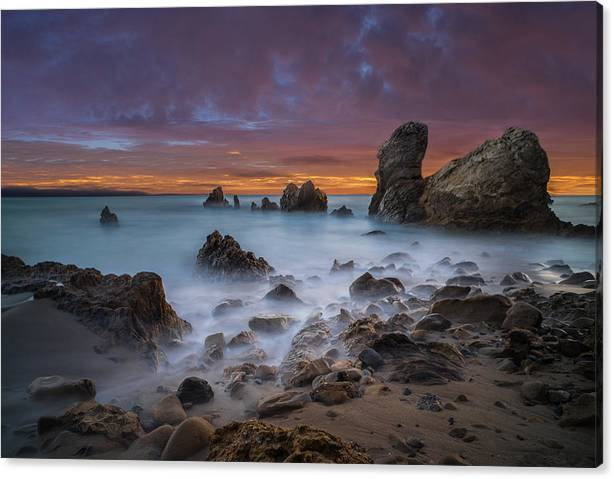 Rocky California Beach - Square by Larry Marshall
