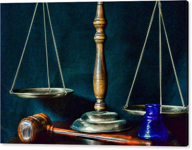 Vintage Lawyer Scales of Justice by Paul Ward