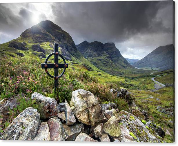 Celtic Cross Glencoe Highlands of Scotland by Angela Jayne Latham
