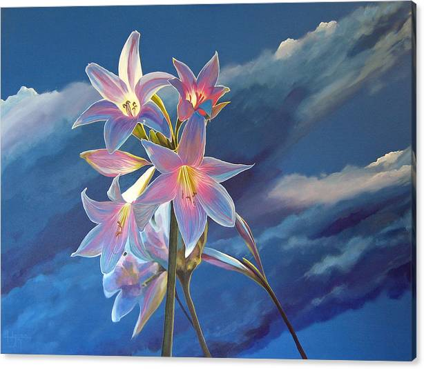 Botanical Canvas Print featuring the painting Spellbound by Hunter Jay
