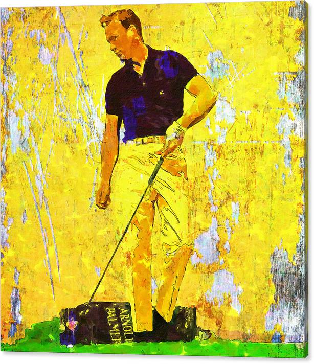 Arnold Palmer Legend in Yellow by John Farr