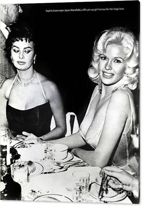 Jayne Mansfield Hollywood  actress Sophia Loren 1957 by California Views Archives Mr Pat Hathaway Archives