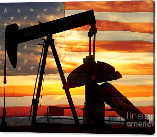 Limited Time Promotion: American Oil  Stretched Canvas Print by James BO Insogna