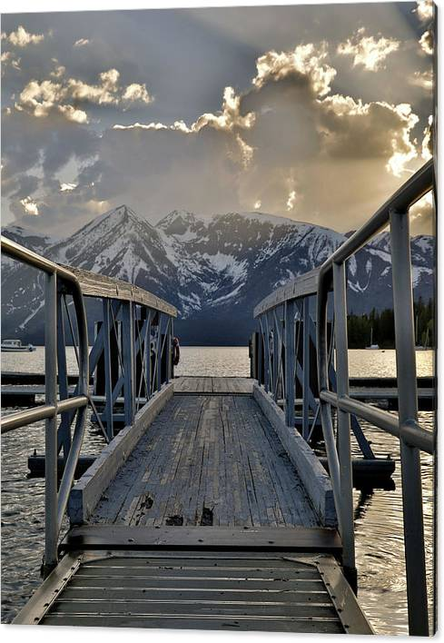 Limited Time Promotion: An Evening On Jackson Lake Stretched Canvas Print