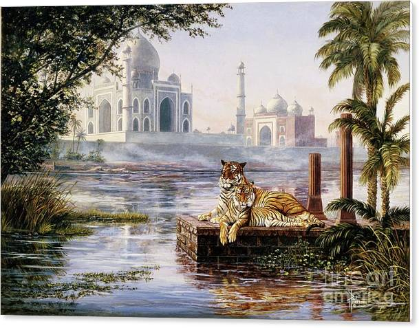 Jewels of India-Bengal Tigers by Paul Henderson