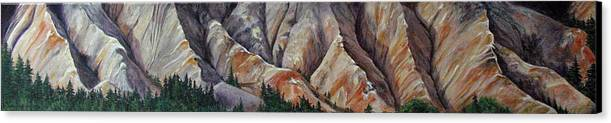 Mountains Canvas Print featuring the painting Marble Ridge by Elaine Booth-Kallweit