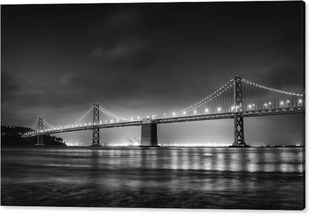 The Bay Bridge Monochrome by Scott Norris