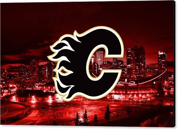 Calgary Flames Artwork by SportsHype Art