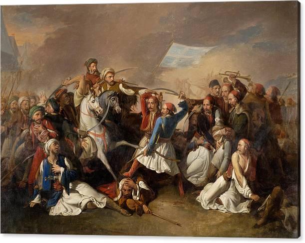 The Death of Markos Botsaris  by Filippo Marsigli